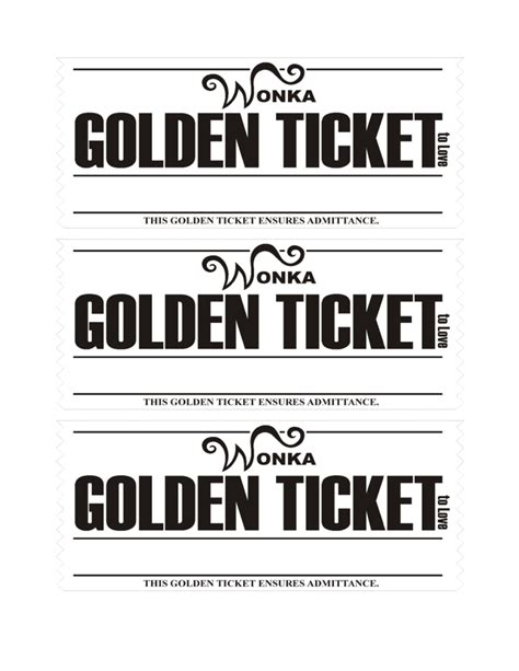 black and white printable love coupons golden ticket love coupons template free download