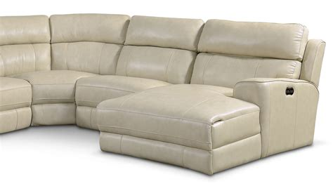 newport sectional newport 6 piece power reclining sectional with right