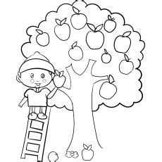 top  apple coloring pages
