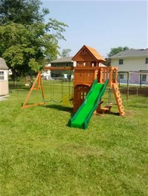 backyard discovery monterey big backyard goldenridge deluxe playset installed in