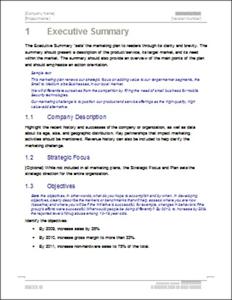 Marketing Plan Templates 5 X Word 10 X Excel Marketing Research Outline Template