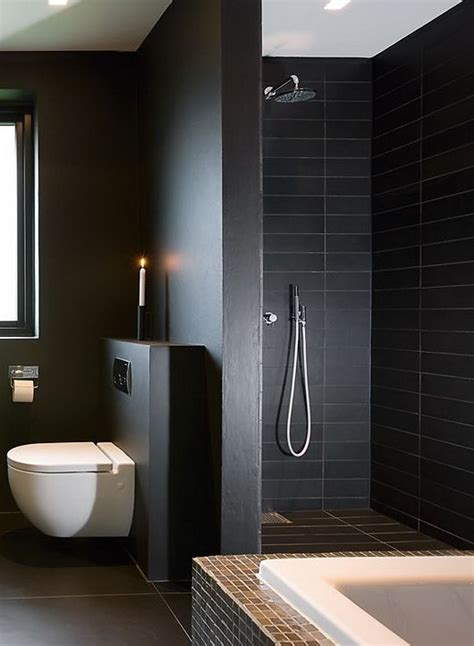 Dark Tile Bathroom Ideas by 34 Black Bathroom Tile Ideas And Pictures