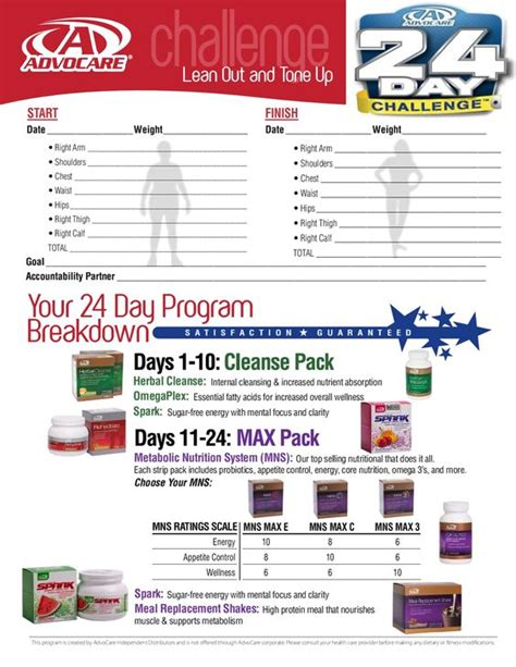 advocare 24 day challenge sheet advocare 24 day challenge assessment form learn more at