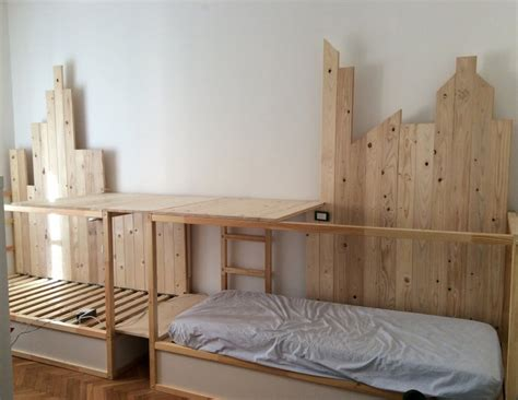 bunk bed hacks ikea kura hack triple bunk bed mommo design