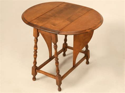 Drop Leaf Side Table Vintage Oak Drop Leaf Side End Table At 1stdibs