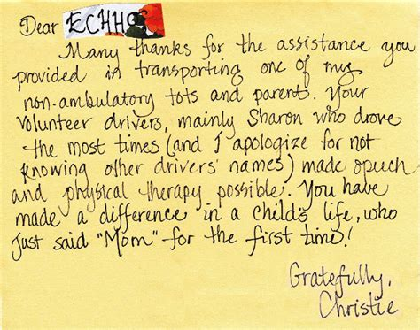 thank you letter to speech echho news july 2013