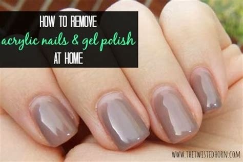 how to remove acrylic nails or gel at home