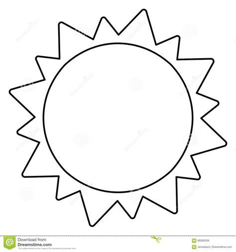 Sun Black Outline by Sun Solar System Astronomy Outline Stock Illustration Image 89280308