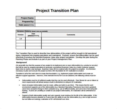 Test charter template project charter project management skills transition plan template 9 download documents in pdf fandeluxe Images