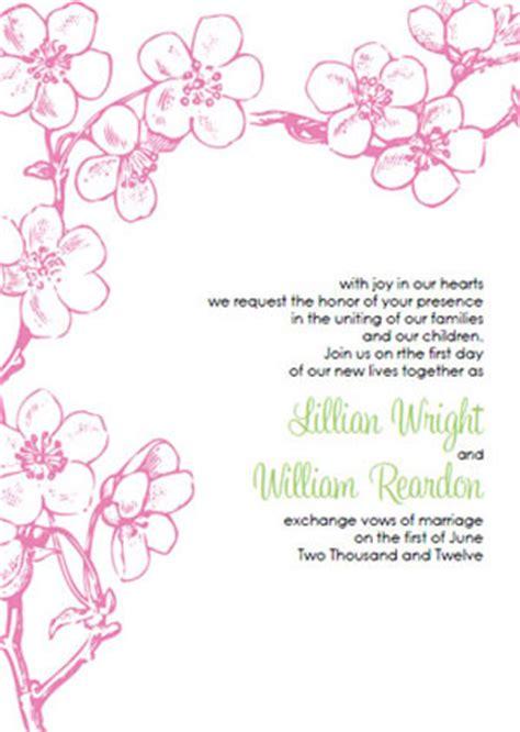 Best Template Collection Screenprintbiennial Com Cherry Blossom Invitation Template