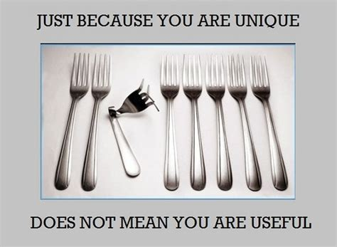 Personalized Meme - just because you are unique forks daily picks and flicks