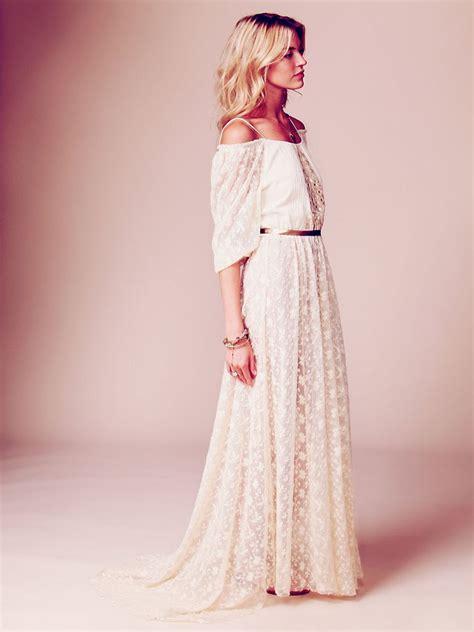 Robe Longue Pour Mariage Boheme - robe longue dentelle boheme epaules nues la robe longue