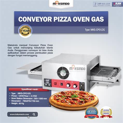 Oven Gas Maksindo conveyor pizza oven gas mks cpo12g toko mesin maksindo