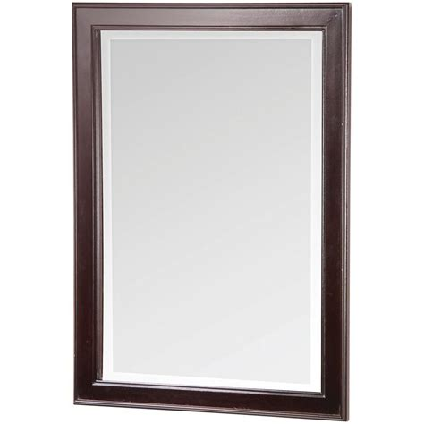 home decorators mirror home decorators collection gazette 24 in x 32 in wall mirror in espresso gaem2432 the home depot