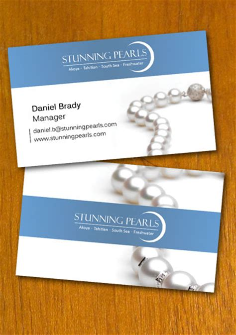 free sle pearl jewelry business card template