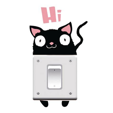 A5878 Sticker Wallpaper Dinding Hi Cat sticker wallpaper dinding hi cat black jakartanotebook