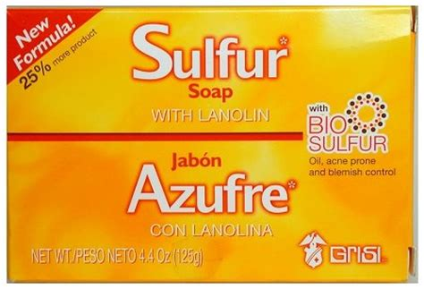 Grisi Bio Sulfur Soap With Lanolin 125gr bio for acne for acne