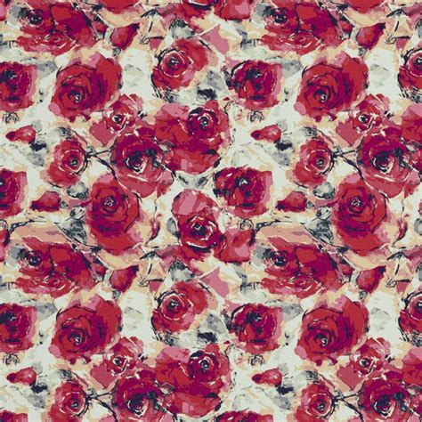 pattern for fabric roses b0480a red and purple roses print upholstery fabric