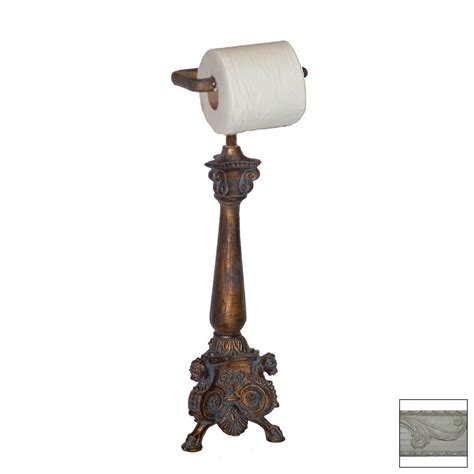 Countertop Toilet Paper Holder by Shop Hickory Manor House Antique White Freestanding