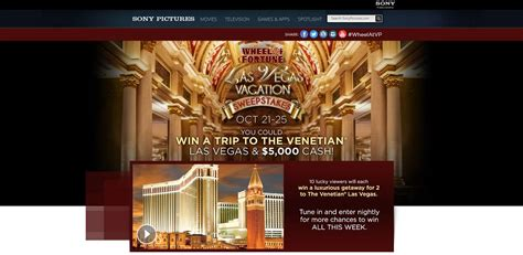Www Wheeloffortune Com Sweepstakes - wheeloffortune com wheel of fortune las vegas vacation sweepstakes
