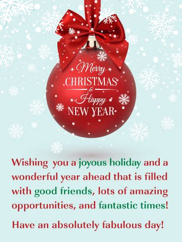 beautiful holiday ornament merry christmas  happy  year card birthday greeting cards