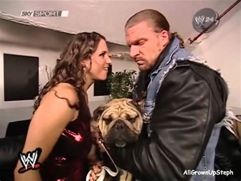 stephanie mcmahon asks triple h to sign the annulment stephanie mcmahon triple h backstage 3 11 02 youtube