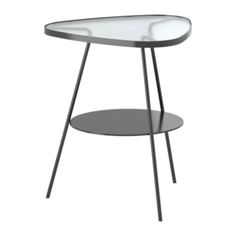 Glass Side Table Ikea Ulsberg Bedside Table Grey Frosted Glass Ikea