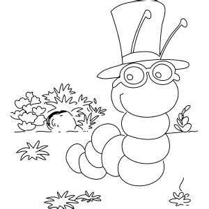 inchworm coloring page coloring pages