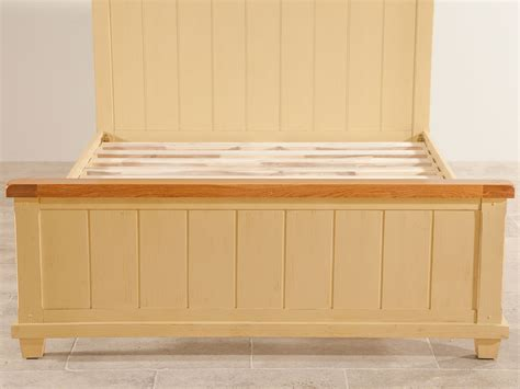shabby chic rustic furniture shabby chic rustic oak and painted 4ft 6 quot bed