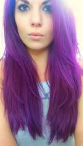 punky colors auburn hair color purple brown hairs