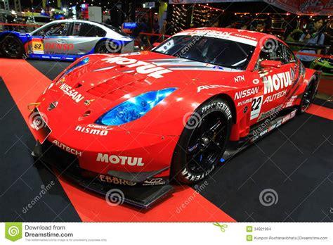 is a nissan 350z a sports car nissan 350z sports car bangkok auto salon editorial stock