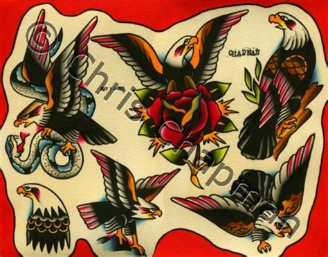 eagle tattoo flash eagles tattoo flash