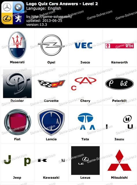 Auto Logo Quiz by The Gallery For Gt Car Logos Quiz Level 2