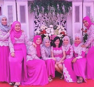 desain baju bridesmaid foto baju muslim kebaya modern kombinasi brokat untuk