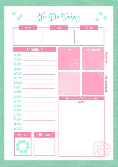 9 best images of cute printable weekly planners 2015 cute daily docket printable by secretowlsociety on etsy