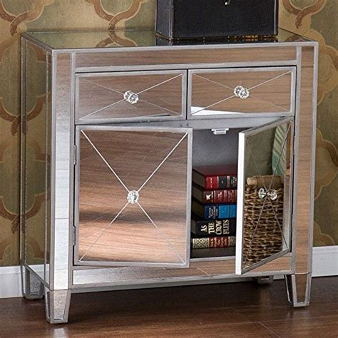 set of 2 mirrored glam dresser bedroom chest