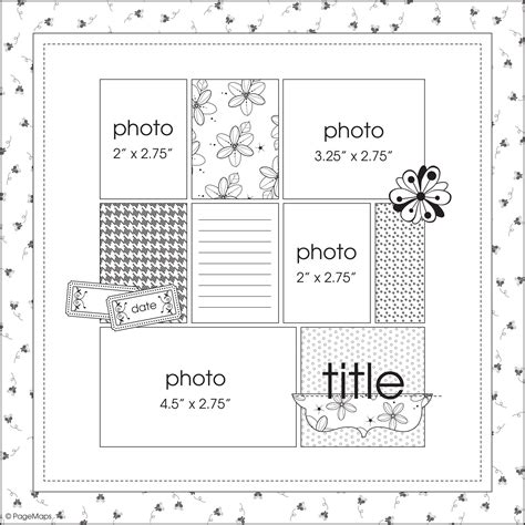Scrapbook Layout Sketches Book | sketch by becky fleck for the summer 11 scrapbook and