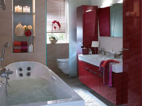 Small Red Bathroom Ideas Bathroom Remodel Small With Red Color Home Decor And