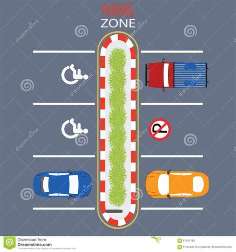 design zone parking zone design stock vector image 61154165