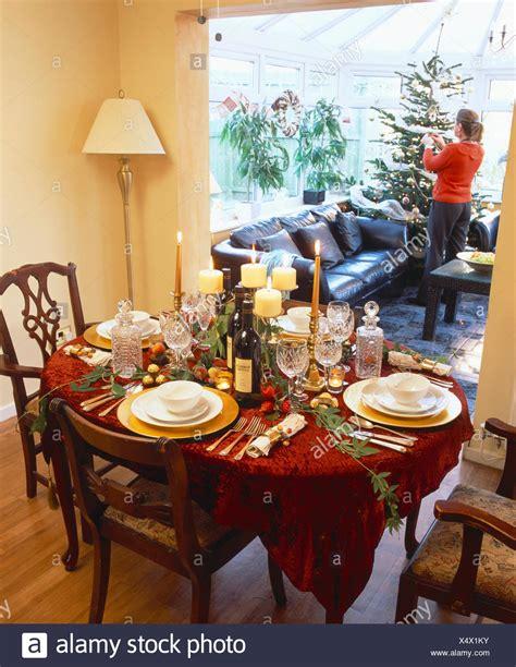 decoracion de mesa   la cena de navidad en el