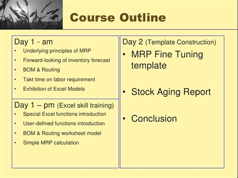 Cmpt 128 Course Outline by Costing By Excel Jan 2010