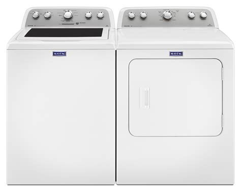 Maytag Bravos® 5.0 Cu. Ft. Top Load Washer and 7.0 Cu. Ft
