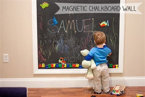 diy magnetic chalkboard wall the culinary couple