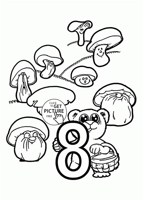 coloring pages with numbers for preschoolers number 8 coloring pages for preschoolers counting numbers