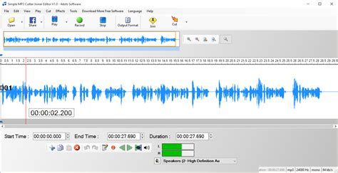download mp3 cutter editor simple mp3 cutter joiner editor download