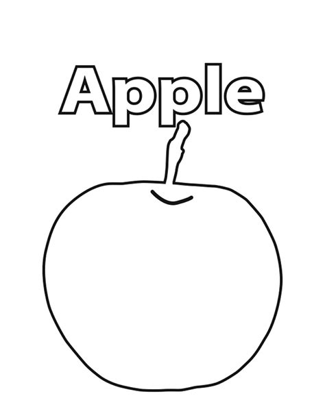 preschool coloring pages apple apple coloring pictures preschool items apple coloring