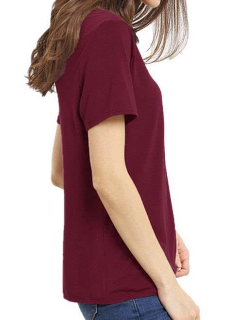 Cross Neck Sleeve T Shirt solid criss cross v neck sleeve t shirt fairyseason