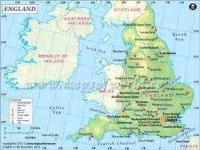 England World Map by England Map Showing The Part Of The Uk Bordered By