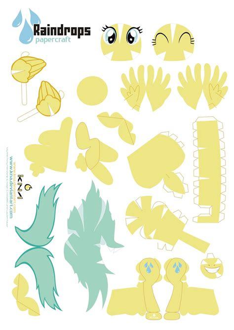 My Pony Paper Crafts - raindrops pony papercraft by kna deviantart on