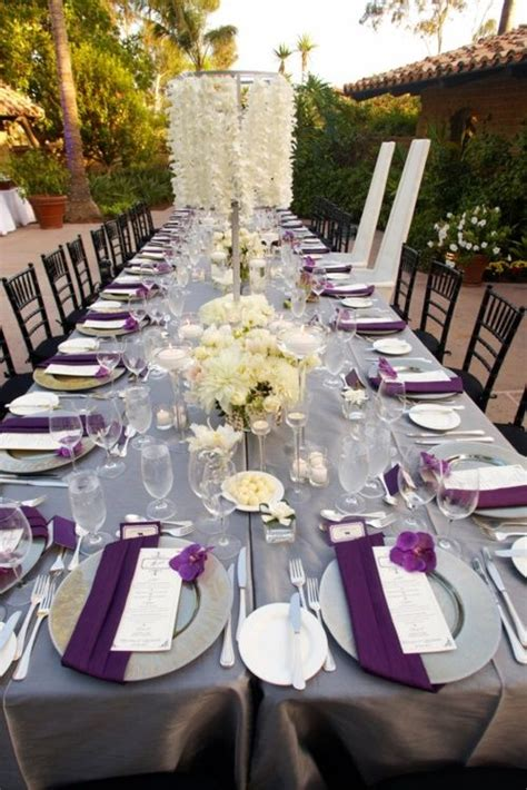 Wedding Table Ideas by Purple Wedding Table Decorations Living Room Interior